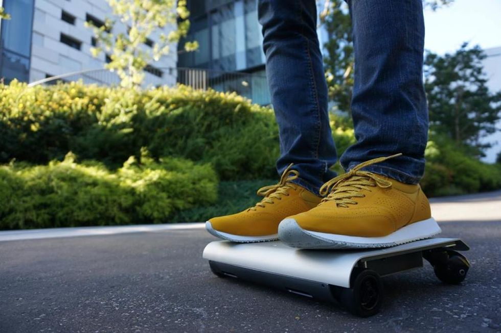 The 'WalkCar' electric powered board can now be purchased