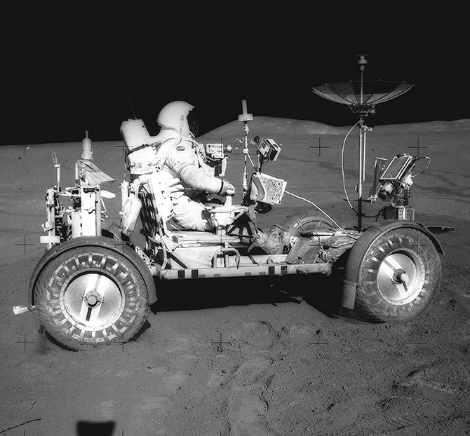 First Man to Drive on the Moon