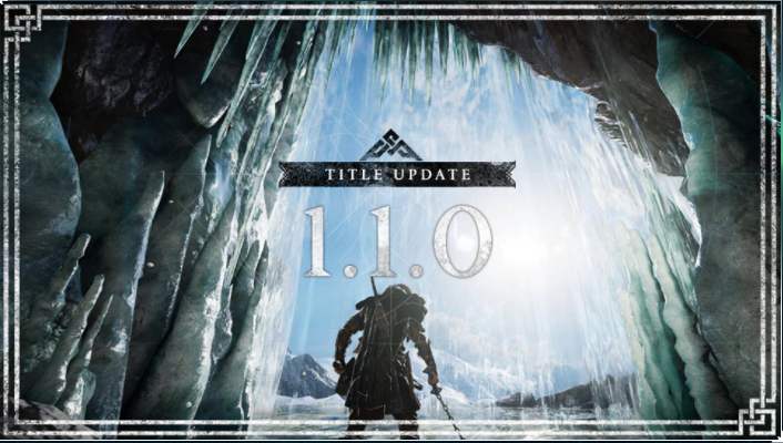 New Assassin's Creed Valhalla update 1.1.0 will release today