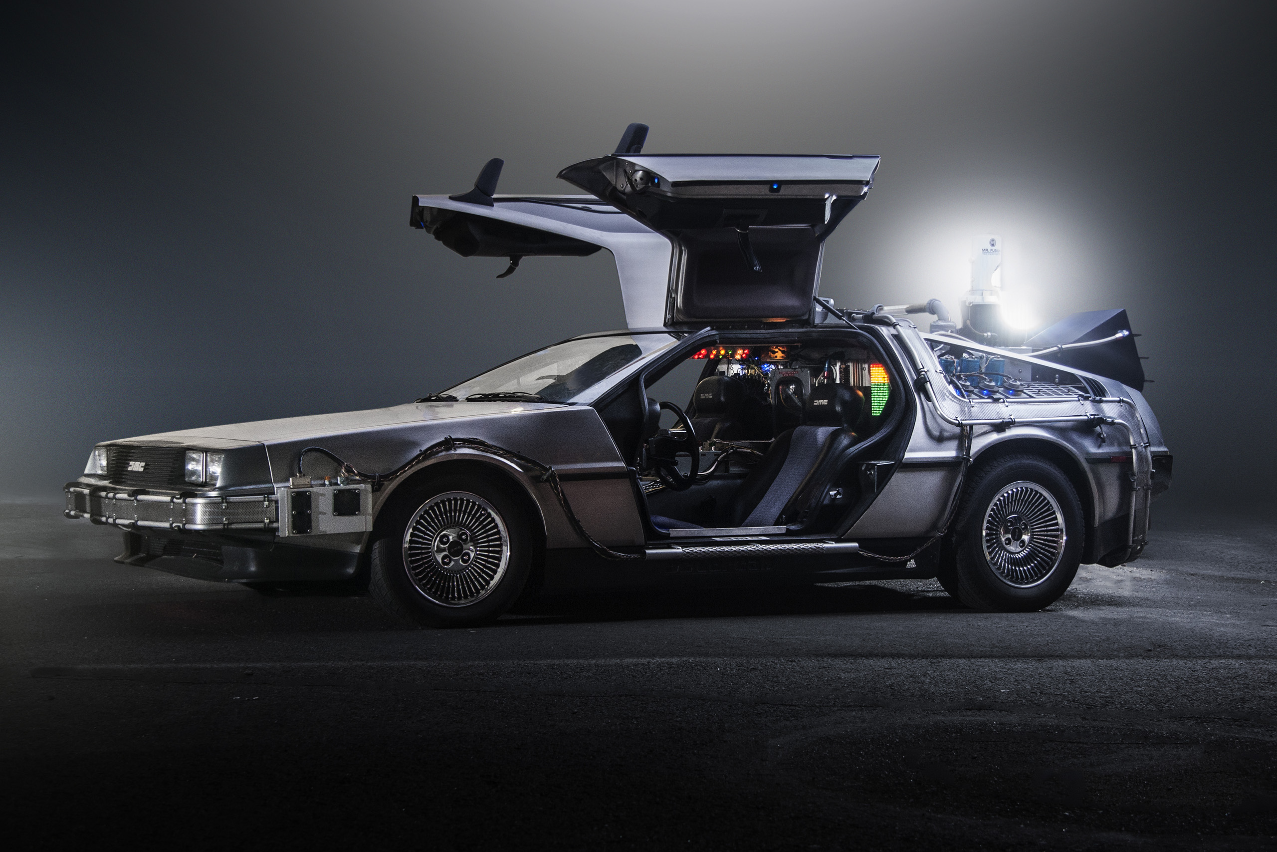 The Back to the future model car is fixed