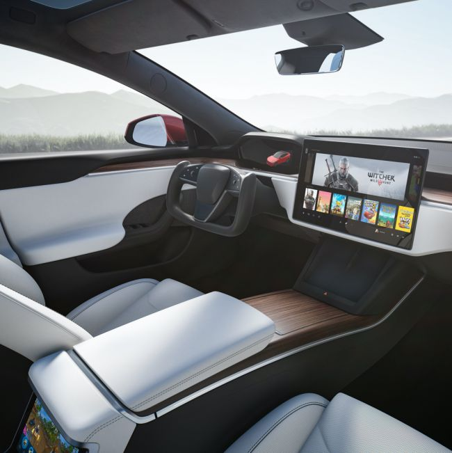 The new Tesla Model S can play The Witcher 3