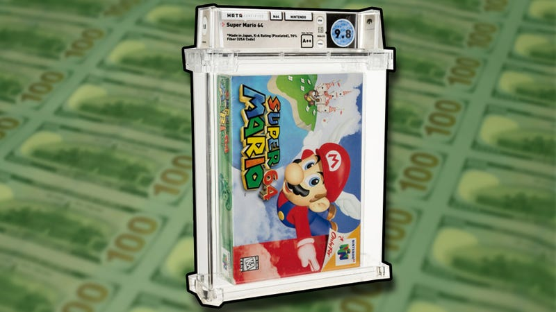 Unopened copy of Super Mario 64 sold for new record amount