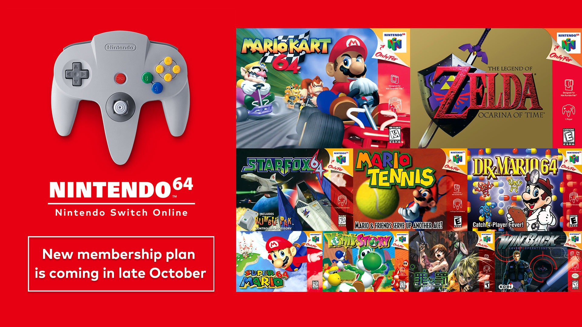 Nintendo 64 games and the classic controller coming to Nintendo Switch!